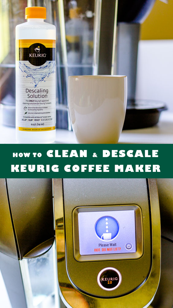 Clean and descale Keurig coffee maker