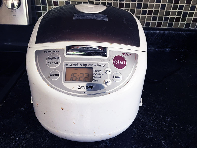 Cleaning a rice cooker