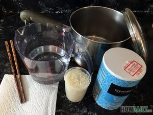 What you need for cooking white rice on stove top