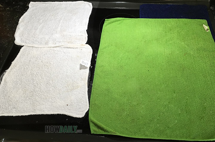 Covering towels on the glass stovetop