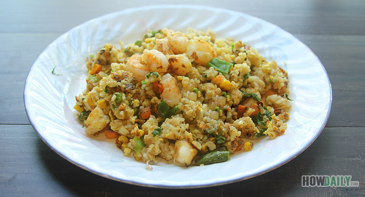 dish shrimp fried rice