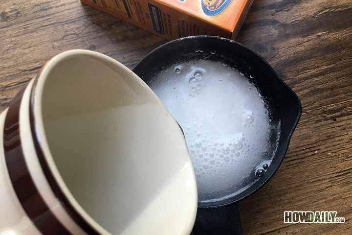 Dissolve the baking soda