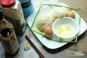 Ingredient for making egg fried rice