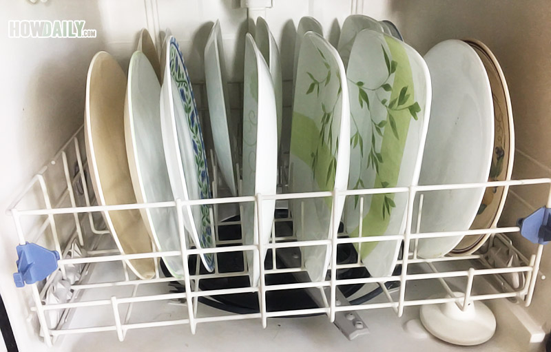 Plates & serving dishes in a dishwasher