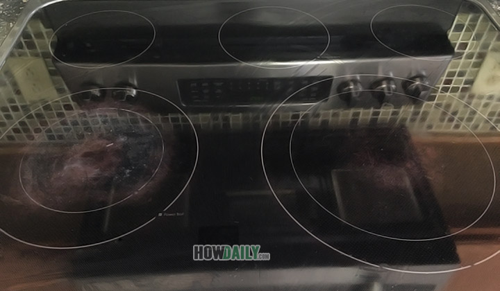 Polish glass cooktop