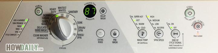 Start washing machine