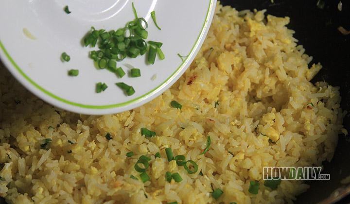 Stir and add green onion