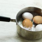 Place eggs in a pot with water