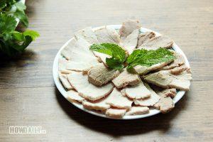 Boiled pork for Vietnamese spring rolls