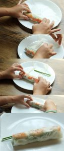 How to roll Vietnamese spring rolls