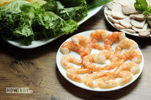 Shrimp for Vietnamese spring rolls