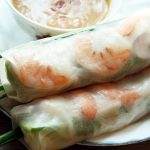 Vietnamese shrimp pork spring rolls