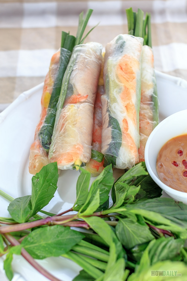 How To Make Vietnamese Spring Rolls Peanut Dipping Sauce Recipe