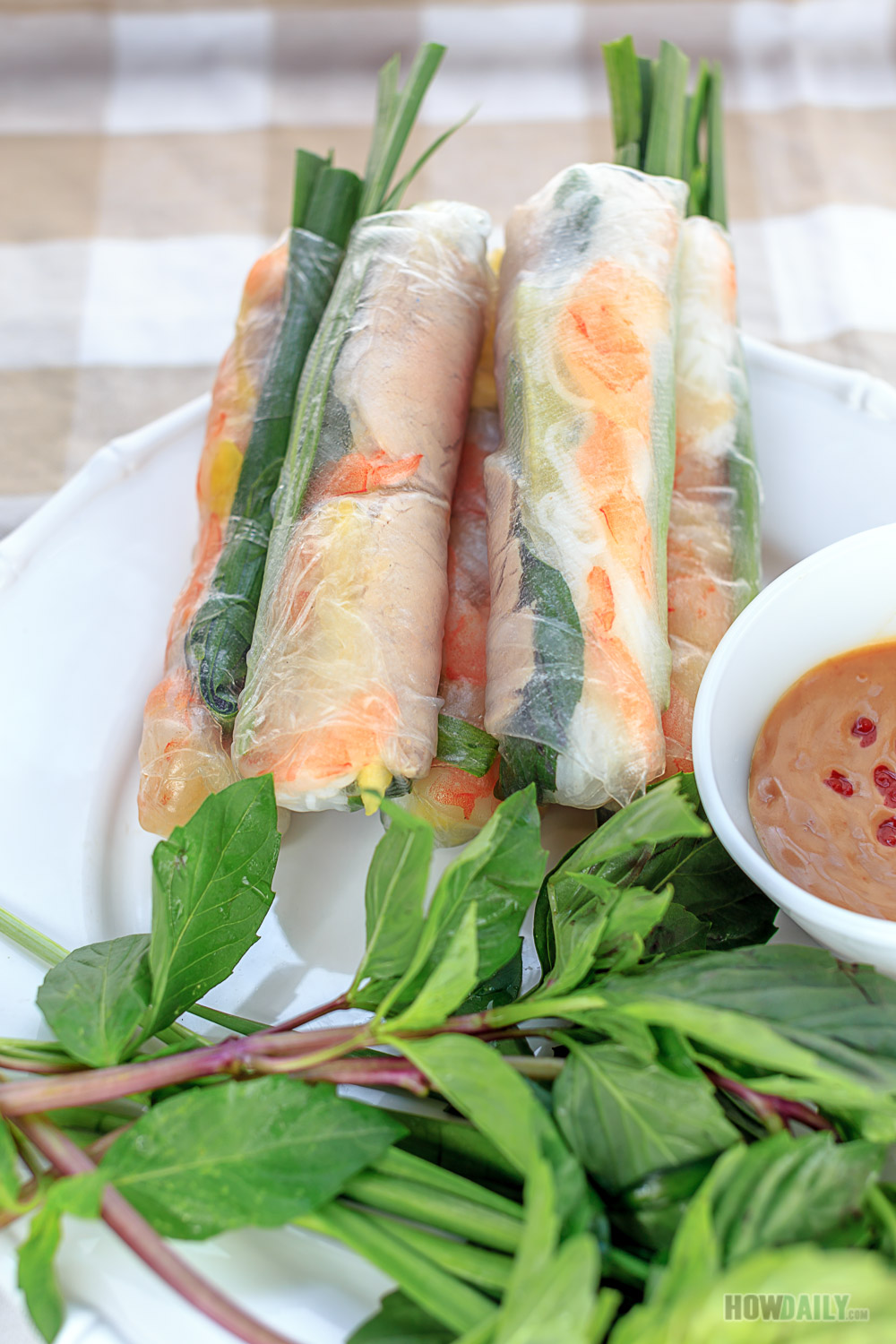 How to Make Vietnamese Spring Rolls & Peanut Dipping Sauce Recipe