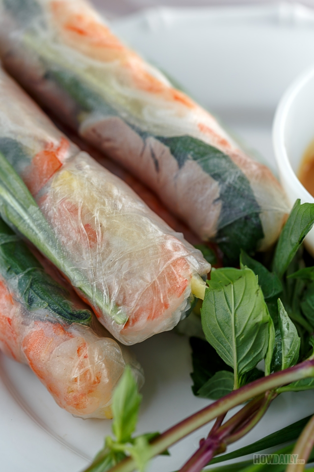 Vietnamese spring roll dish