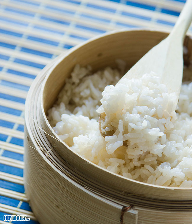 Cooked sushi rice