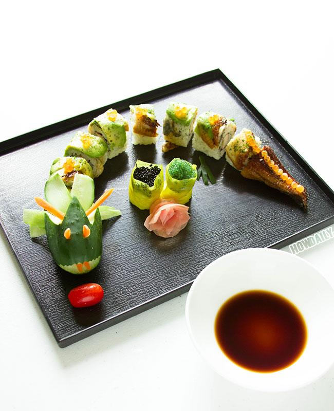 Dragon California sushi roll