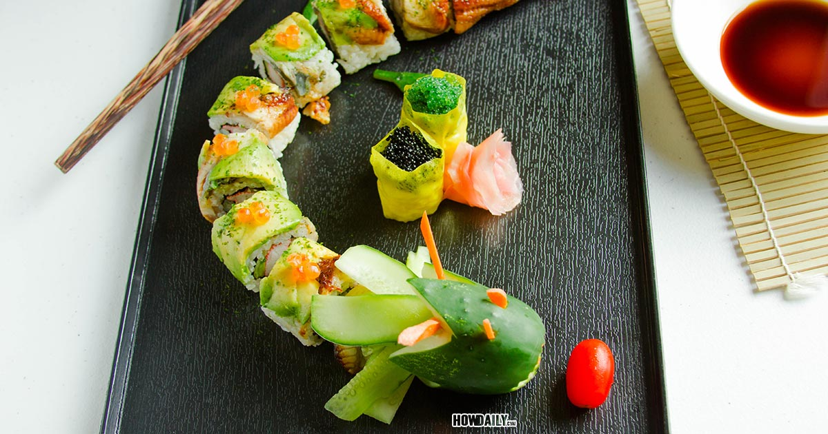 Dragon Roll Recipe Fun Way For Sushi Lover