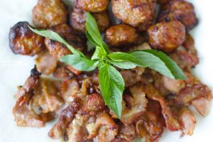 Grilled Pork and Meatball