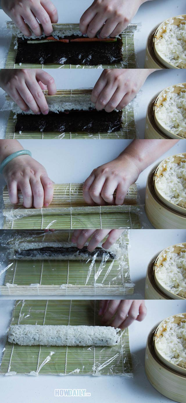How to roll sushi