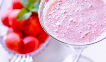Watermelon Yogurt Smoothies With Coconut Flavor