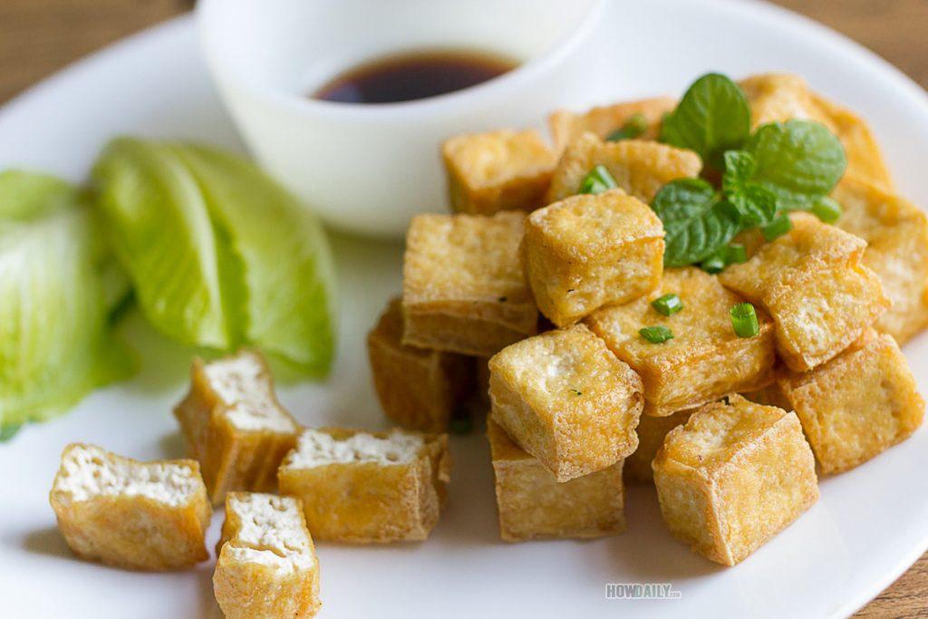 Fried-tofu dish