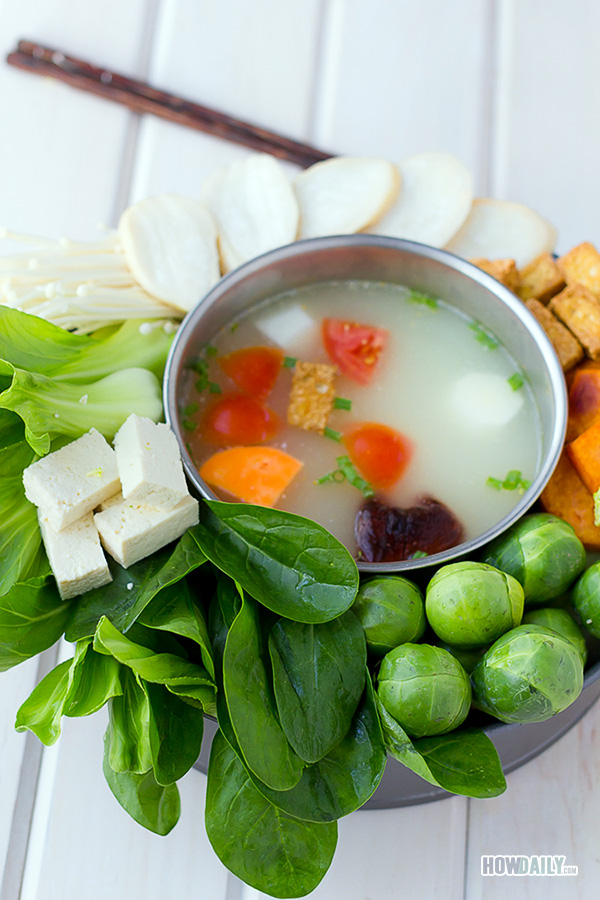 Warming up the winter time with a vegan hot pot