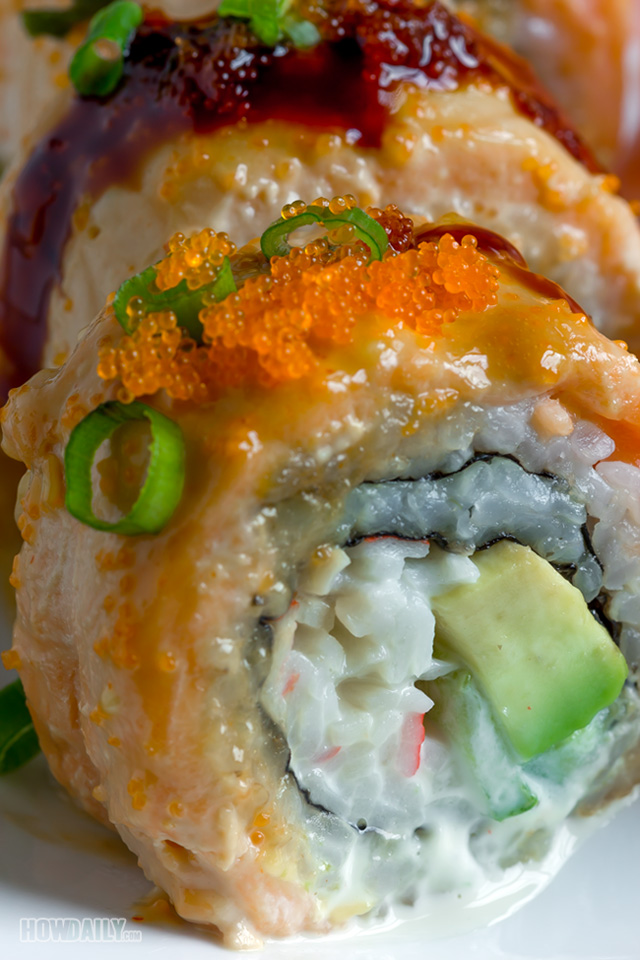 Creamy lion king roll