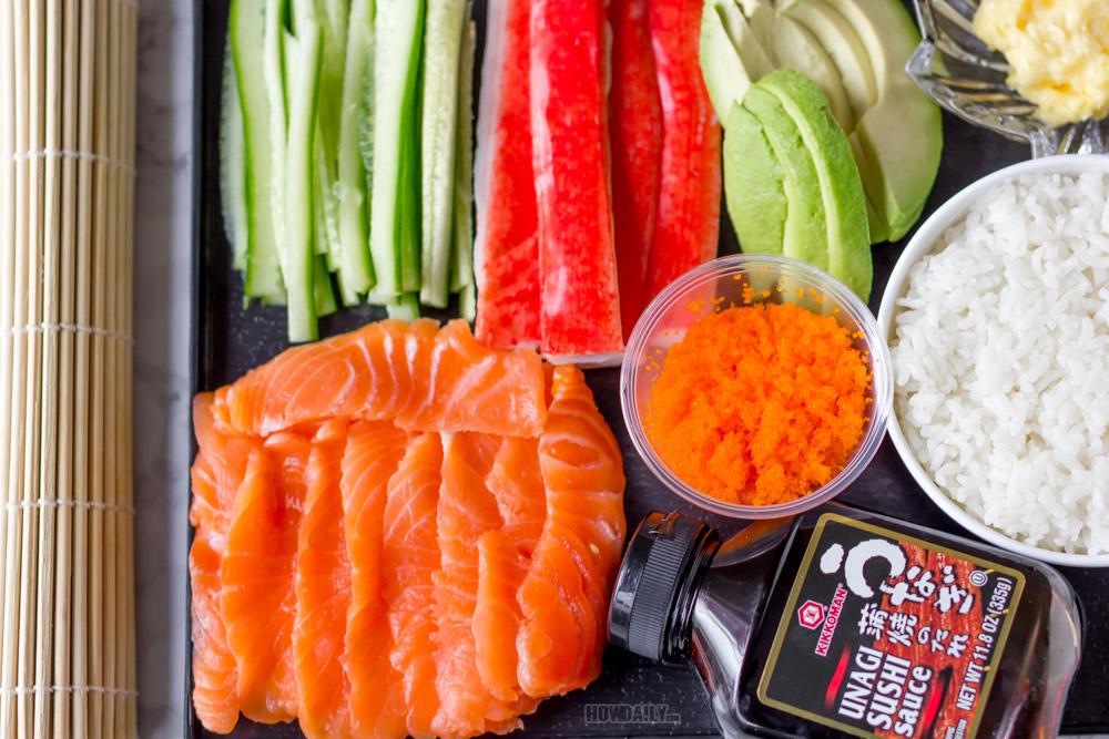 Lion king sushi ingredients