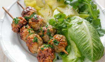 Vietnamese pork meatballs (nem nuong)