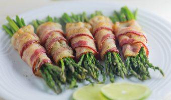 Crispy Roasted Bacon-Wrapped Asparagus
