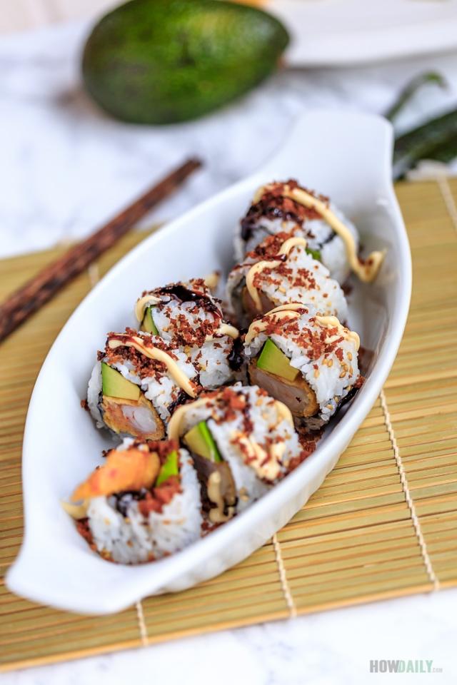 Recipe for Shrimp tempura rolls