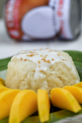 Thai Coconut Sticky Rice Pudding with Mango: A lite twist to the exotic dessert