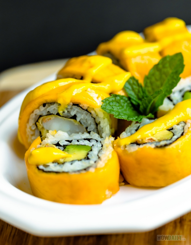 Crazy mango sushi roll