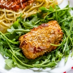 Crispy grilled chicken Parmesan