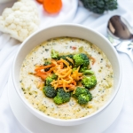 Low-carb broccoli cheese soup