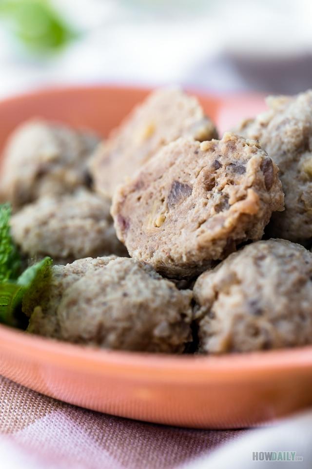 Vietnamese beef meatballs dish