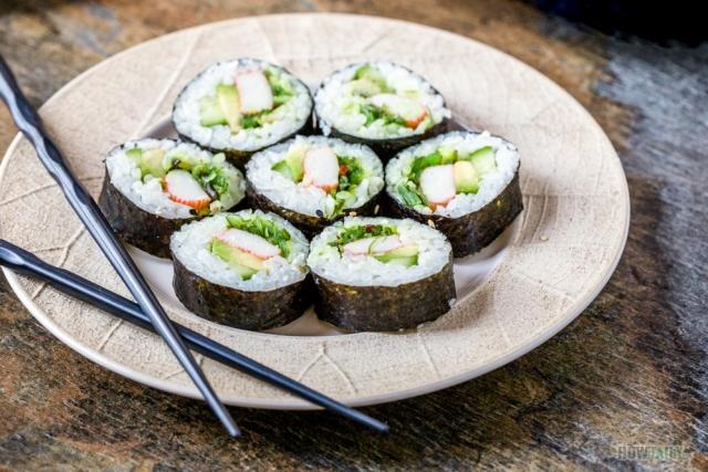Crunchy salad roll