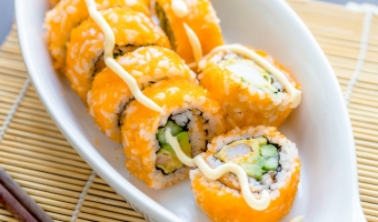 Boston Roll – Delicious Sushi Made from Shrimp, Avocado & Cucumber