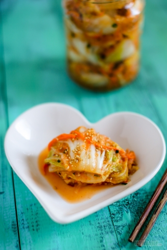 Instant Vegetarian Kimchi (No Fish or Seafood)