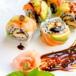 Temptation Sushi Roll – Buttery Salmon and Creamy Avocado on a Twist