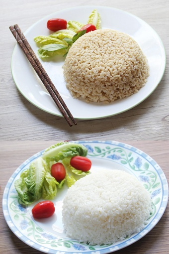 Cooking white and brown rice