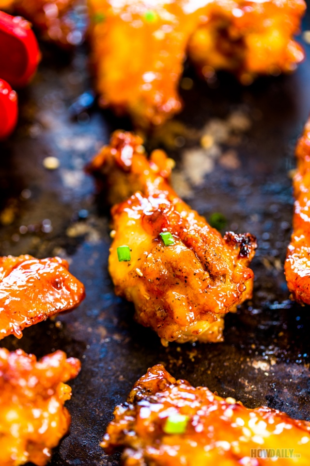 Crispy Oven Baked Bbq Chicken Wings Recipe Sweet Amp Spicy