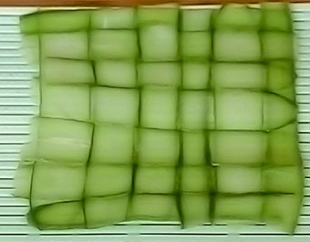 Basket Weaved Cucumber