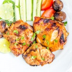 Grilled chicken marinade dish