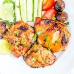 Grilled chicken marinade dish