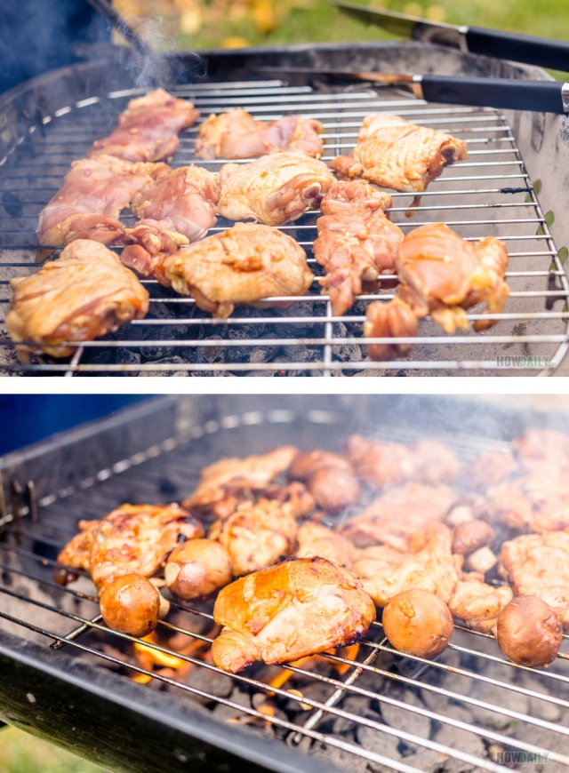 Cookout grilling chicken
