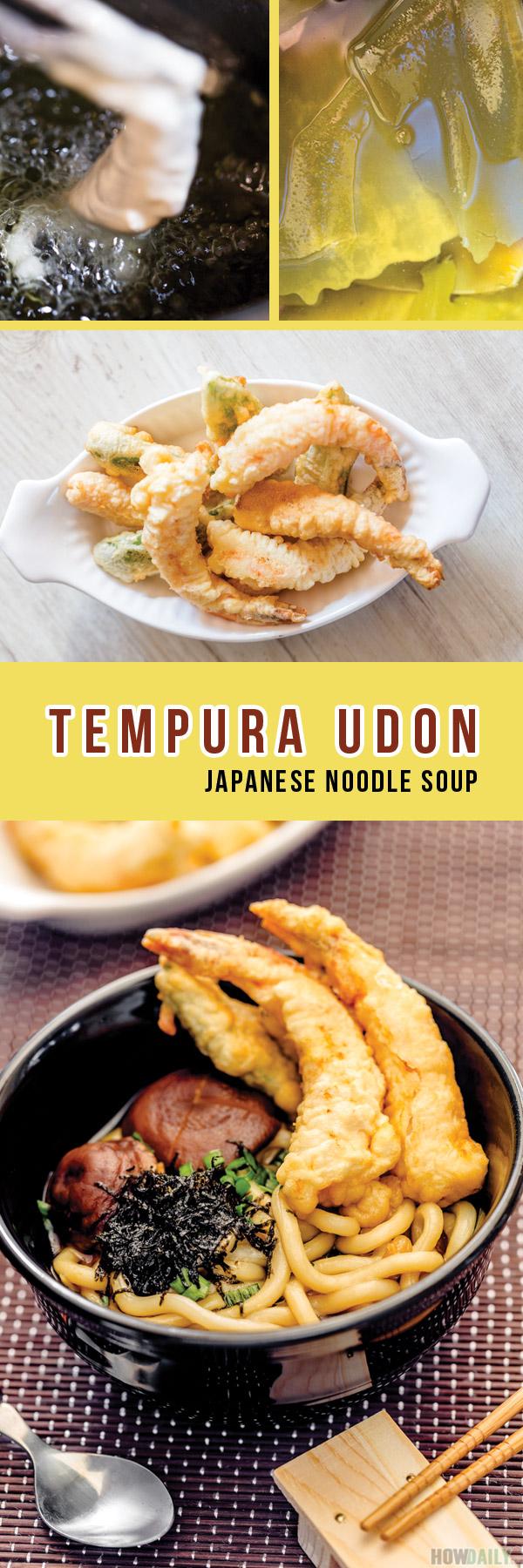 Japanese Tempura Udon Noodle Soup