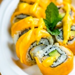Mango roll with shrimp