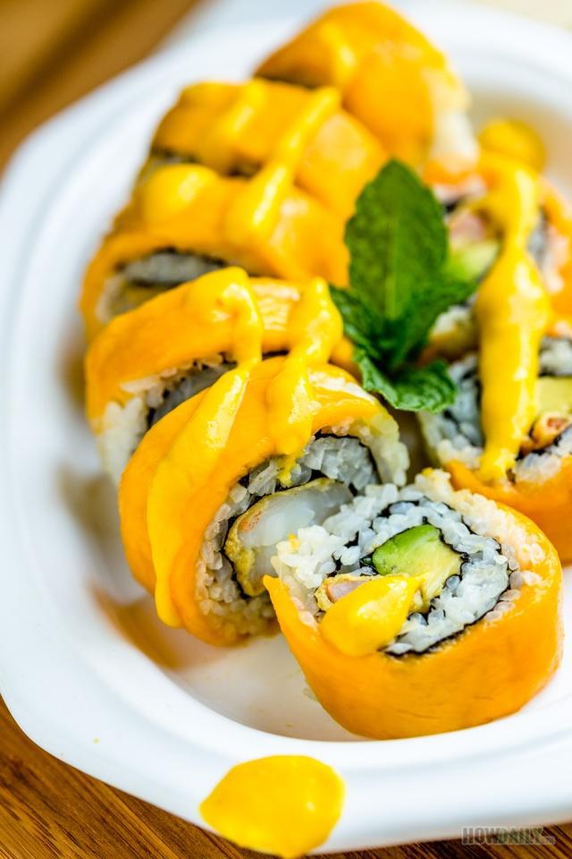 Crazy Mango Roll Recipe Yummy Sushi With Tropical Mango